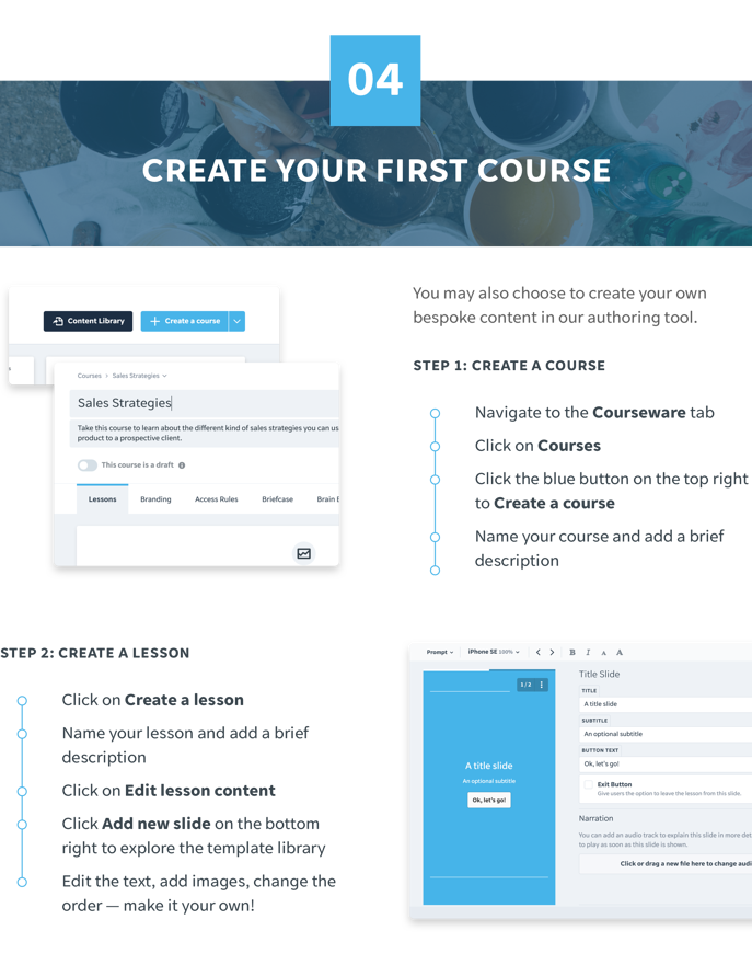 4 Create Your First Course